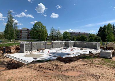 Pagraba stāva būvniecība, maijs 2020. gads, attēls 3