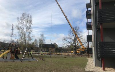Esam uzsākuši darbus pie otrās daudzdzīvokļu mājas būvniecības mūsu Cēsu māju kvartālā Siguldas ielā 5