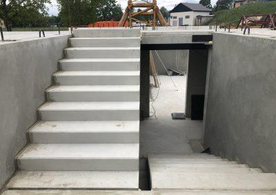 Pagraba stāva būvniecība, jūnijs, 2020