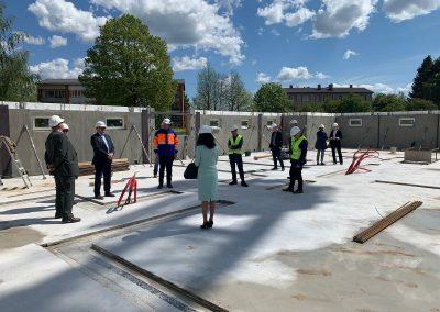 Pagraba stāva būvniecība, maijs 2020. gads, attēls 1